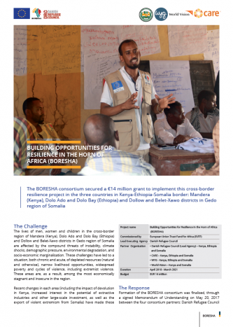Summary Annual Report for 2018/2019: Building Opportunities for Resilience in the Horn of Africa (BORESHA)