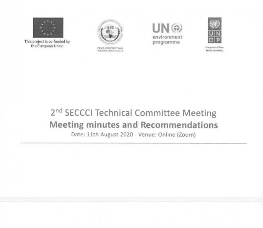 2nd SECCI TECHNICAL COMMITTEE MEETING Meeting minutes and Recommendations