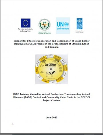 IGAD Training Manual on Animal Production