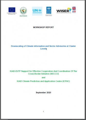 Downscaling of Climate information and Sector Advisories at Cluster Levels