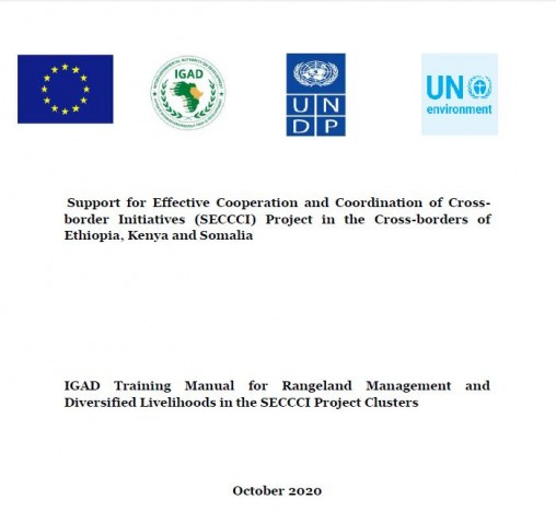 IGAD Training Manual for Rangeland Management and Diversified Livelihoods in the SECCCI Project Clusters