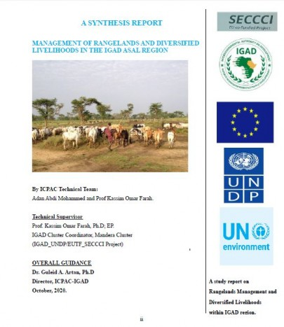 A synthesis report on Management of Rangelands And Diversified Livelihoods In the IGAD Asal region